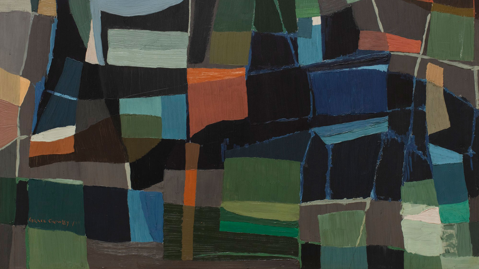 Grace Crowley Abstract Painting 1953