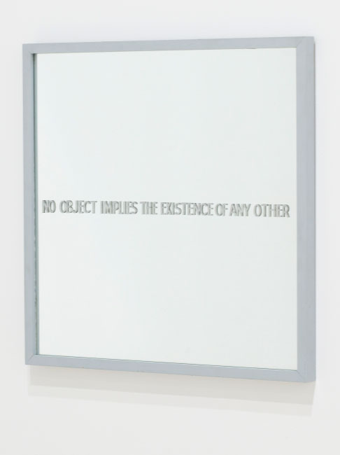 Ian Burn No object implies the existence of any other (Hume's mirror) 1967.