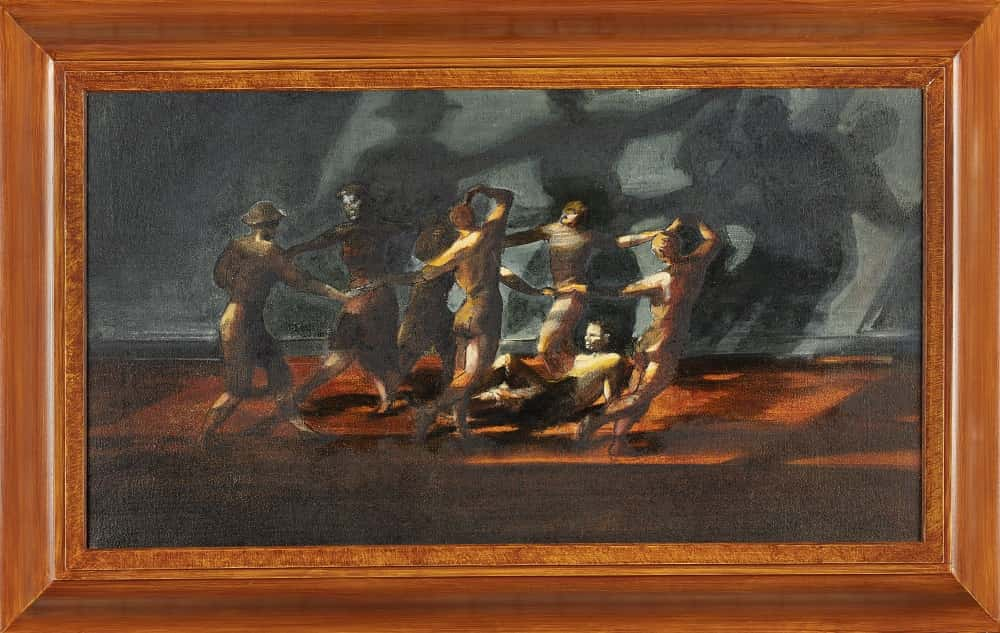 Painting of people dancing