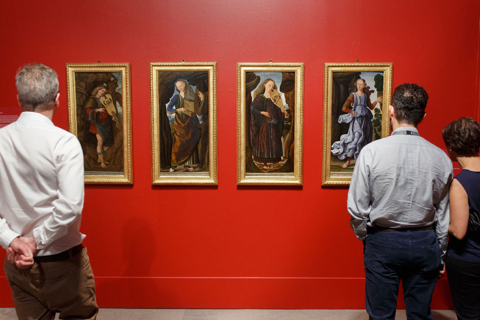 The Corsini Collection: Masterpieces from Florence featuring works by Giovanni Santi The Muses circa 1480-90.