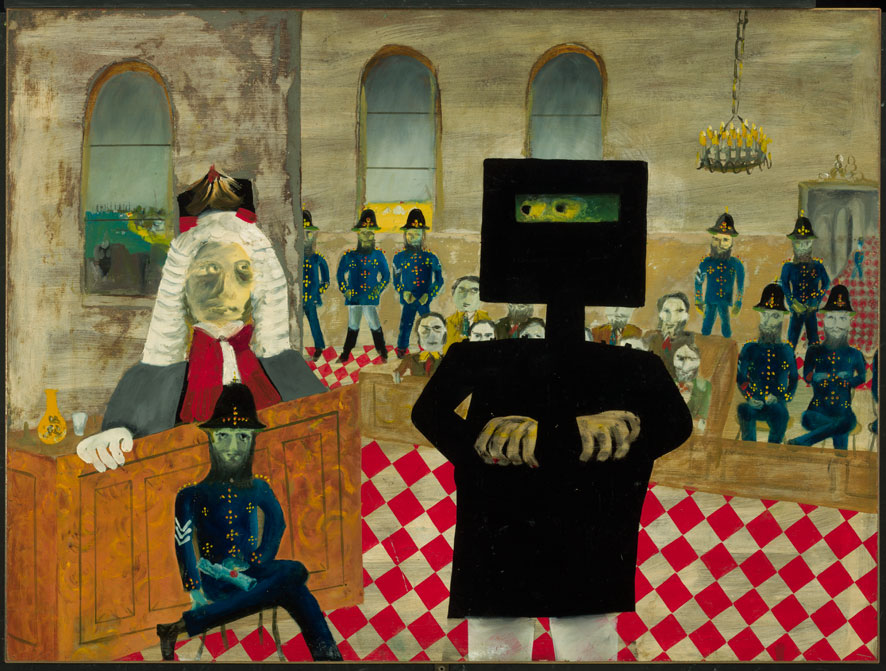 Sidney Nolan The trial 1947 from the Ned Kelly series 1946 – 1947.