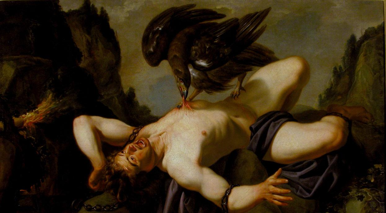Traditionally attributed to Anthony van Dyck (Antwerp 1599-London 1641) Prometheus and the Eagle early 17th century (detail).