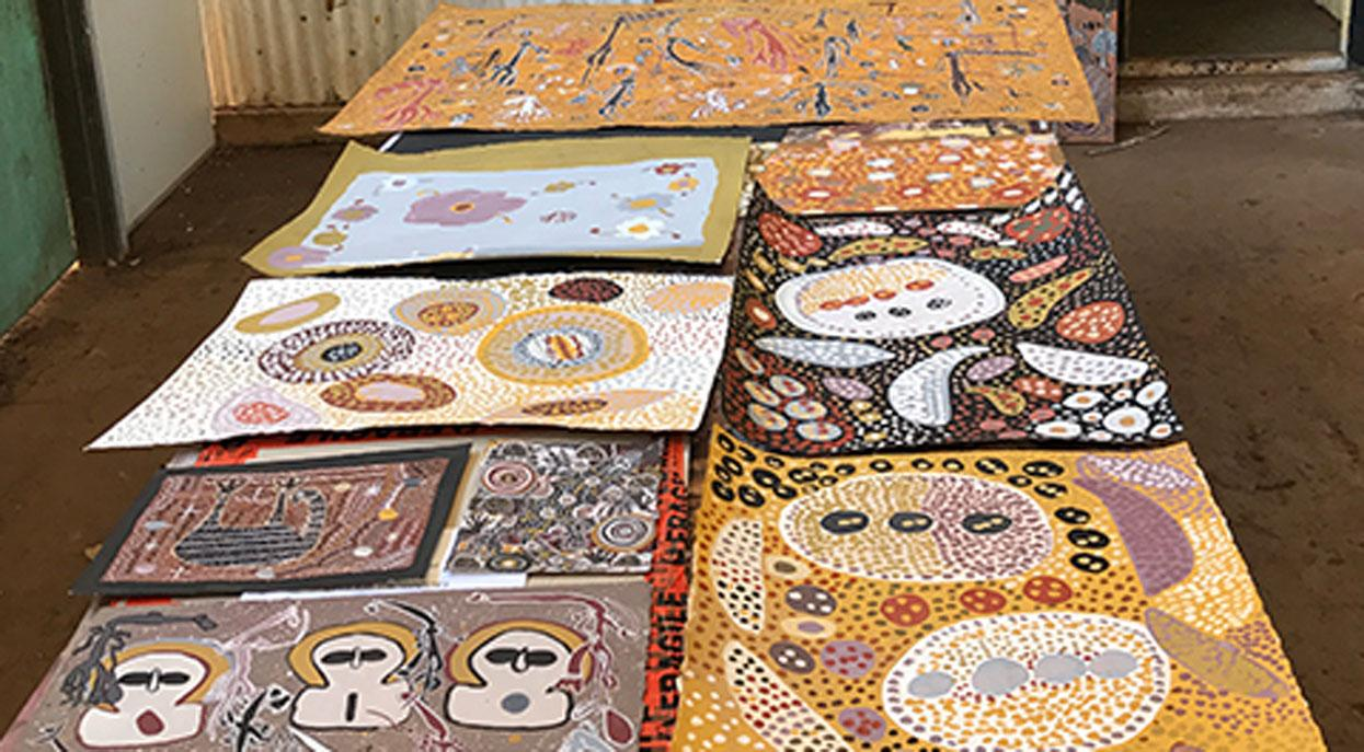 Artworks by artists from Kira Kiro Art Centre. Courtesy of the artist.
