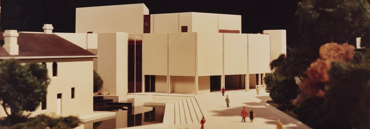 Model of Perth Cultural Centre, south view, c1985.