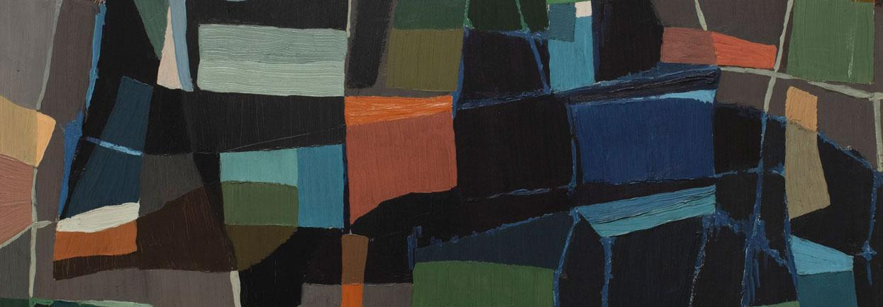 Grace Crowley Abstract Painting 1953 (detail).