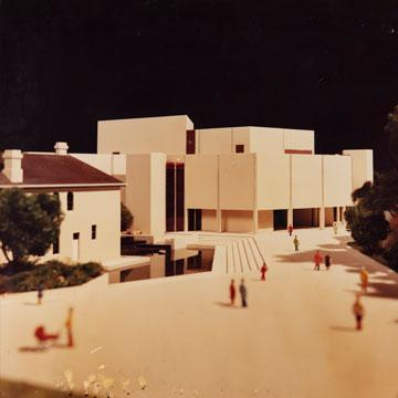 Model of Perth Cultural Centre, south view, c1985