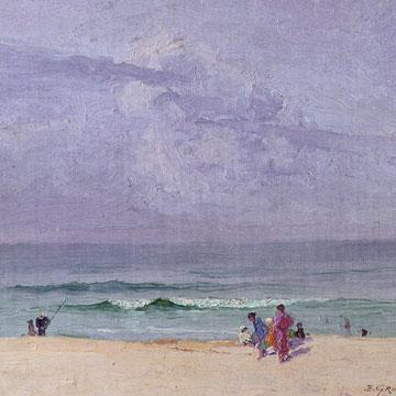 Elioth Gruner The beach 1918 (detail).