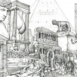 Andrew Nicholls Via Appia Antica (After Piranesi) 2016-2018 (in progress) (detail)